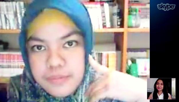 Skype w/ Sister